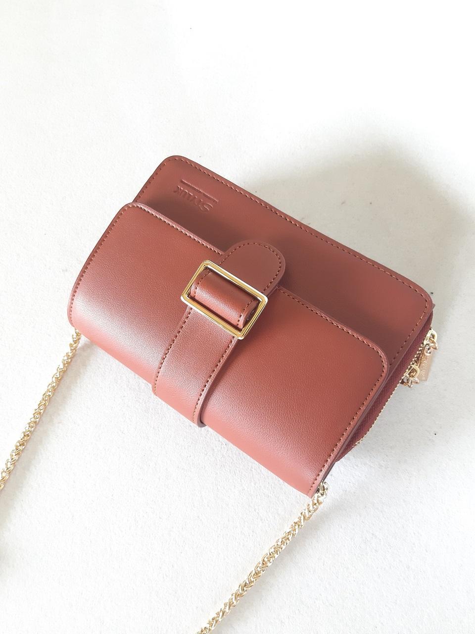 Túi xách hộp mềm khóa sập CL-J903PUR