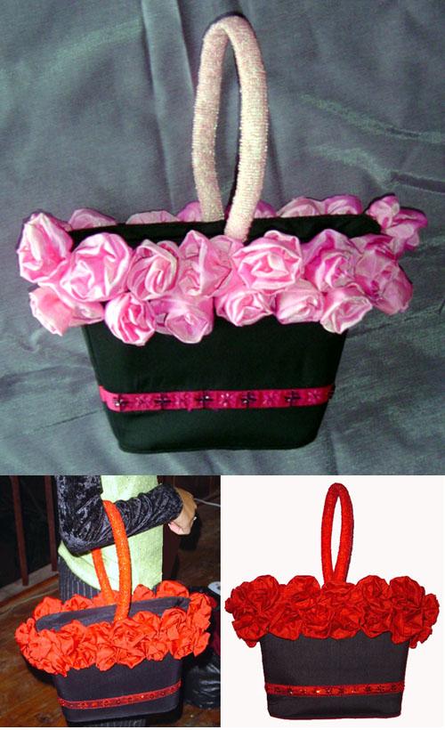 Túi mix hoa lụa TM120